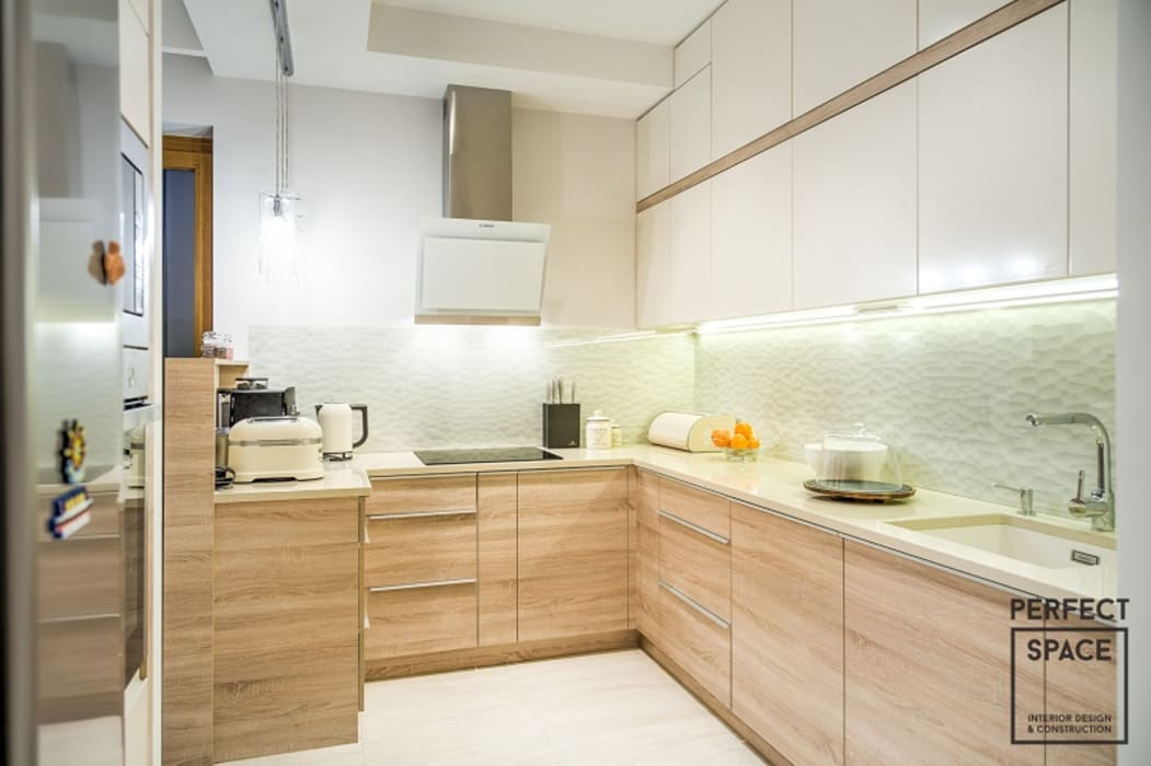2-poziomowe mieszkanie: styl , w kategorii Kuchnia zaprojektowany przez Perfect Space,