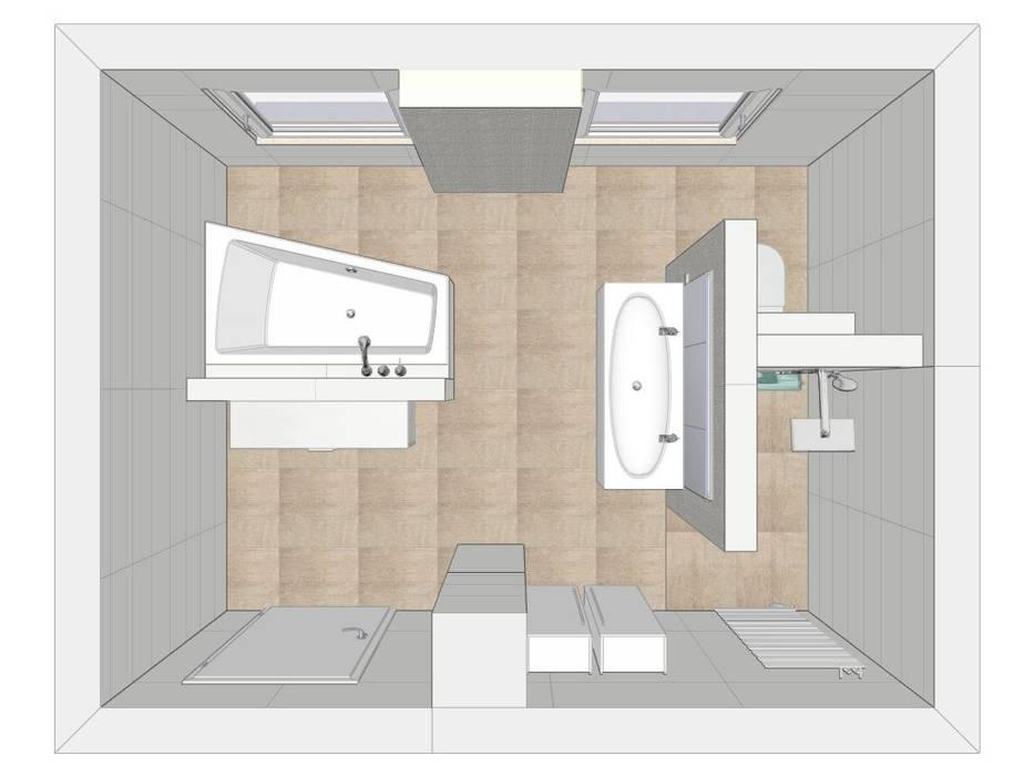 Grundriss moderne badezimmer von heimwohl gmbh modern | homify