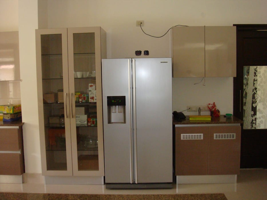 fridge by elegant kitchens & Interiors Modern Chipboard