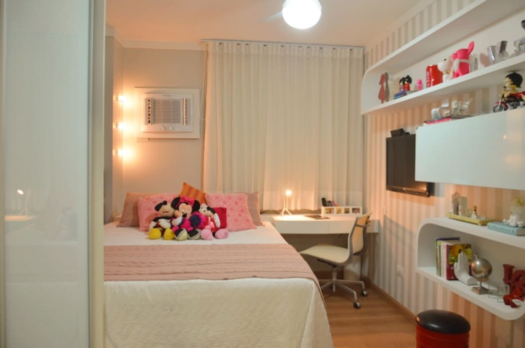 Apartamento juvenil, Maceió Al Cris Nunes Arquiteta Quartos clássicos