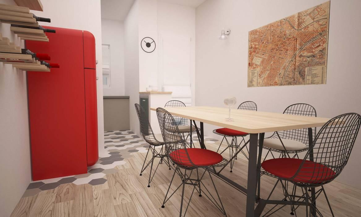 CORSO TORTONA Cucina in stile industriale di LAB16 architettura&design Industrial