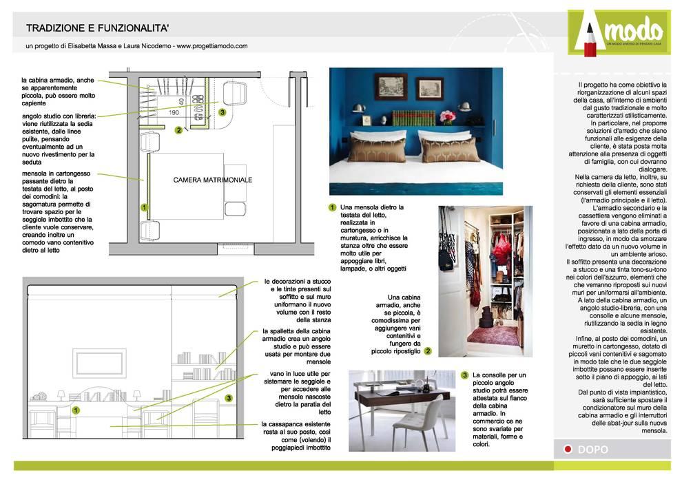 Progetto – camera da letto: in stile di amodo, eclettico ...