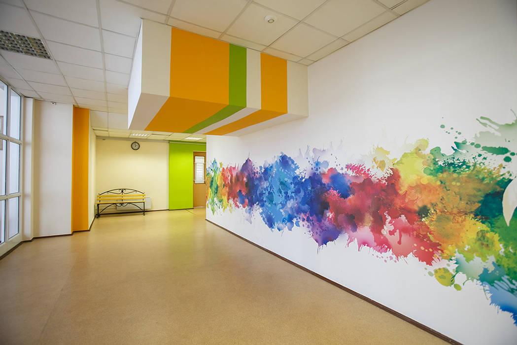 Оформление стен школы № 2053: Школы и учебные заведения  в . Автор – 33dodo, Эклектичный