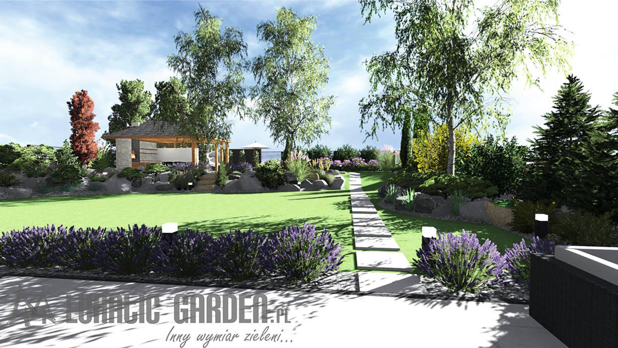 Projekt ogrodu: styl , w kategorii Ogród zaprojektowany przez Lunatic Garden,