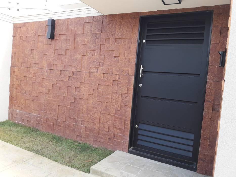 Paredes y pisos de estilo moderno de Thaisa Afonso - Arquitetura e Urbanismo Moderno Contrachapado