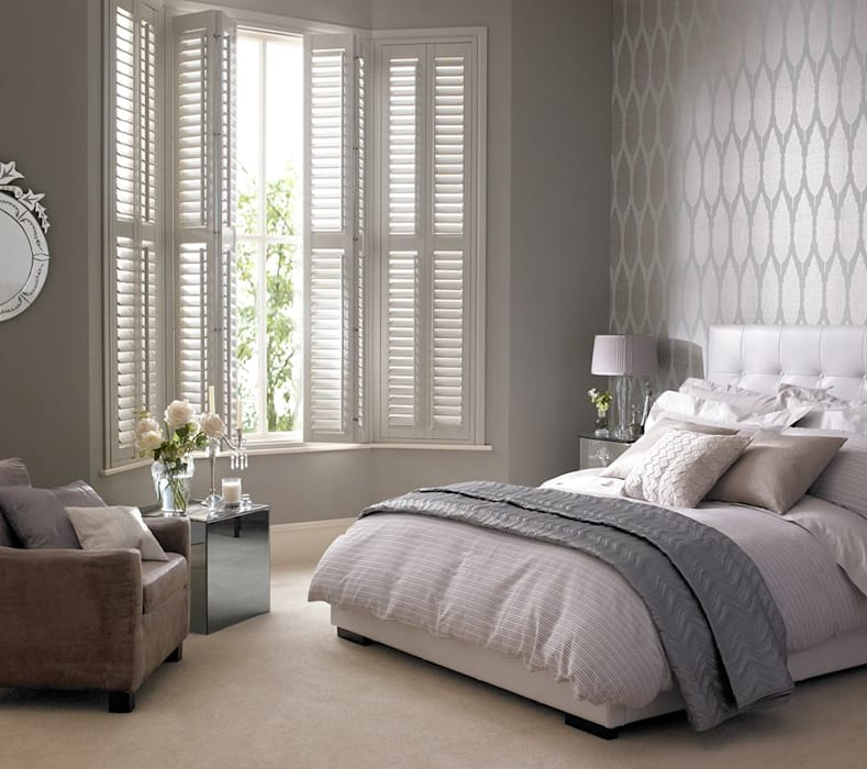 Kenilworth Wooden/Lifetime Vinyl Shutters Classic style bedroom by Thomas Sanderson Classic