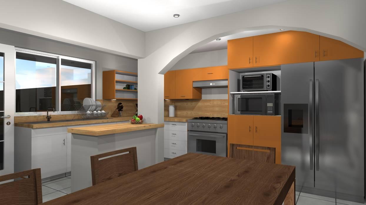 廚房 by Constructora e Inmobiliaria Catarsis, 隨意取材風 木頭 Wood effect