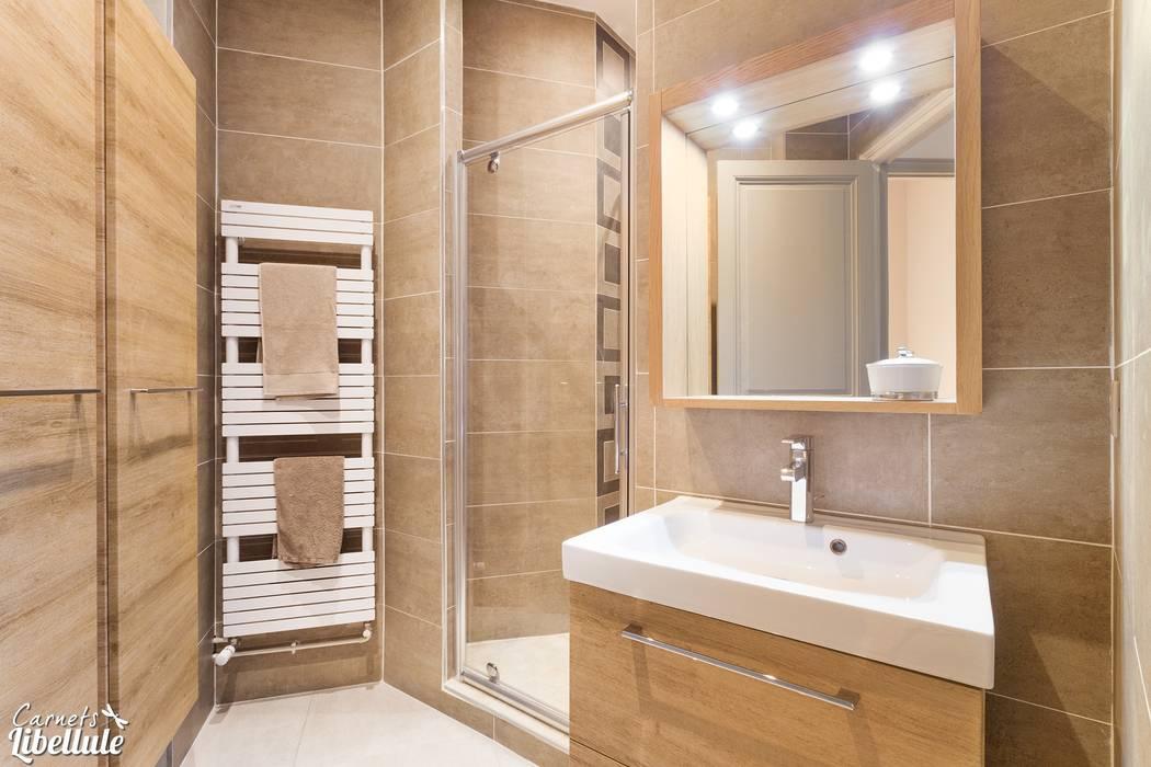 salle d 39 eau naturelle salle de bains de style par carnets. Black Bedroom Furniture Sets. Home Design Ideas