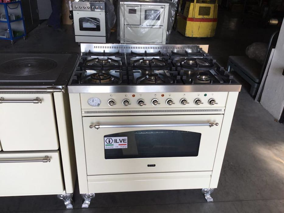 Cucina a gas della ilve professional 90 x 60 bianco antico – 6 ...