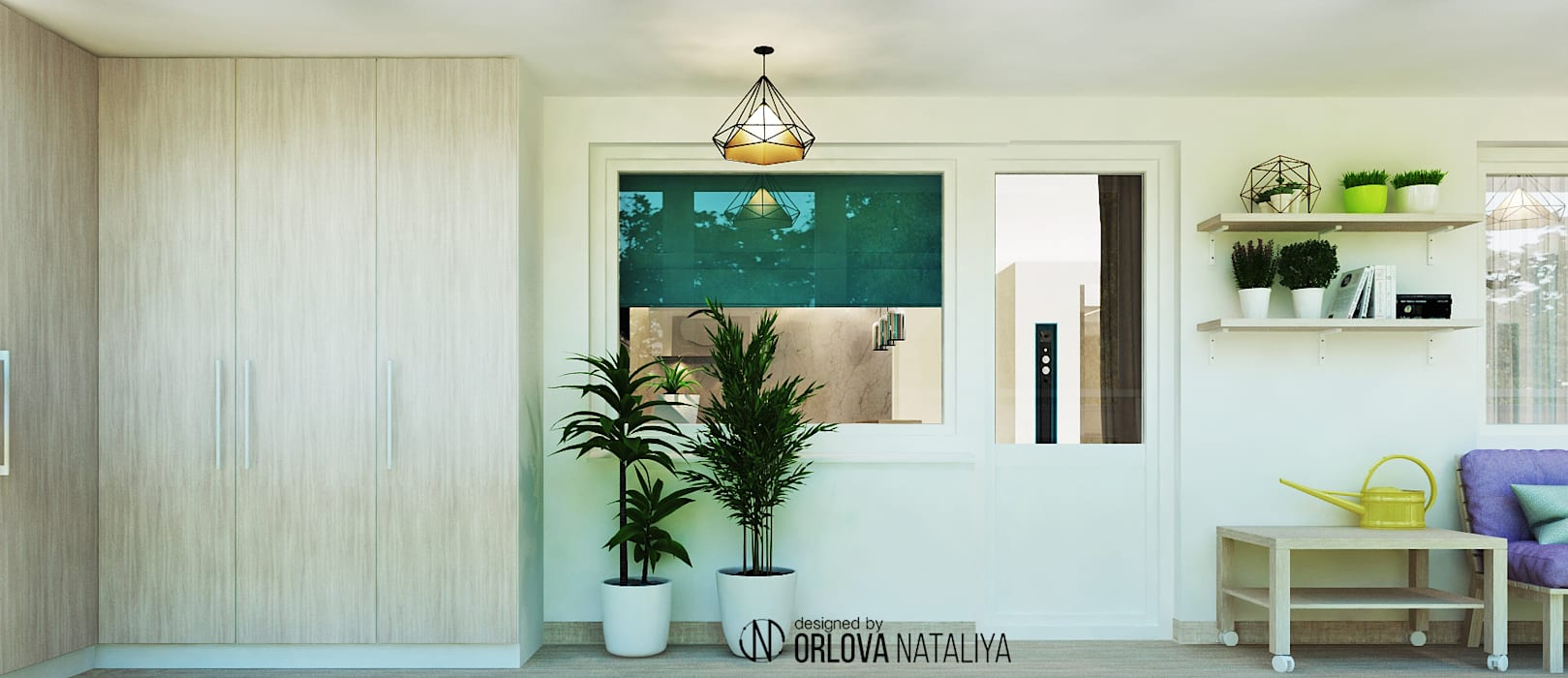Minimalist balcony, veranda & terrace by Orlova-design Minimalist