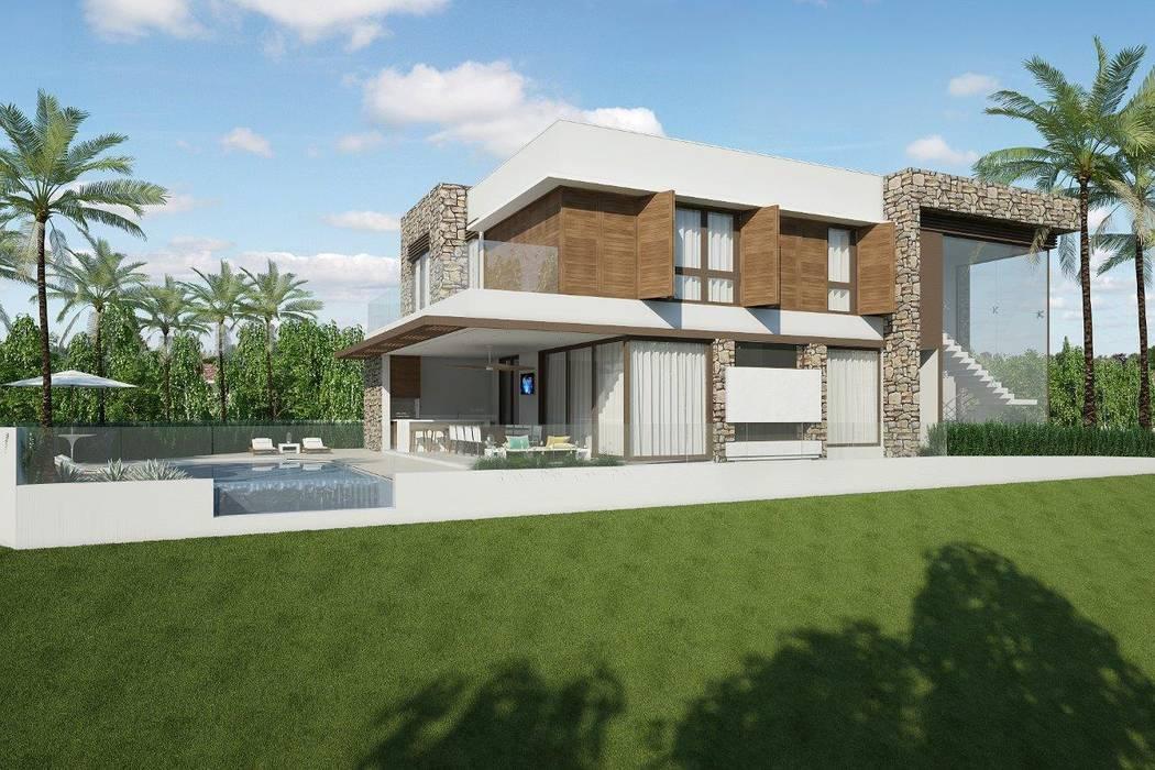 現代房屋設計點子、靈感 & 圖片 根據 Quitete&Faria Arquitetura e Decoração 現代風