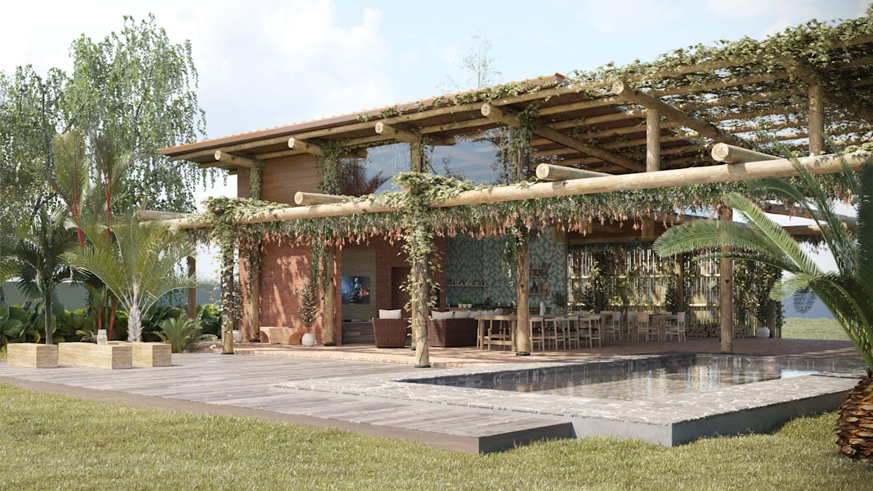Casas de estilo rústico de studiojordanovalota Rústico Madera Acabado en madera