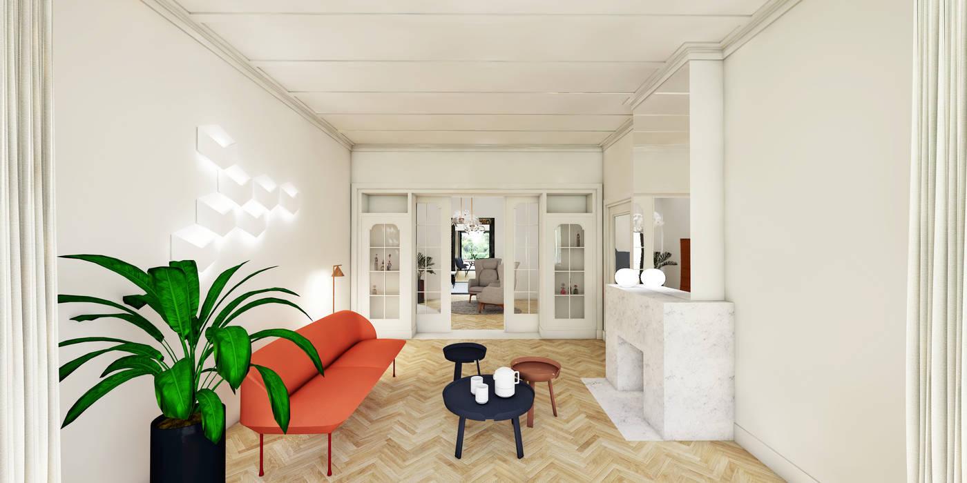 New Salon met orginele en suite deuren: woonkamer door de nieuwe &EL81