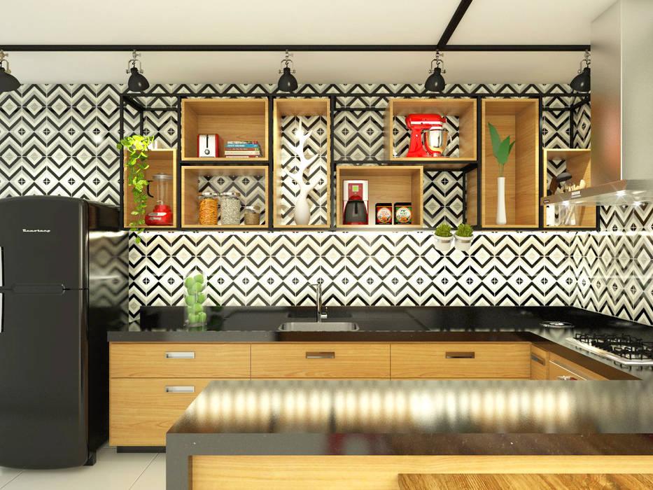 廚房 by Bruna Rodrigues Designer de Interiores, 工業風 木頭 Wood effect