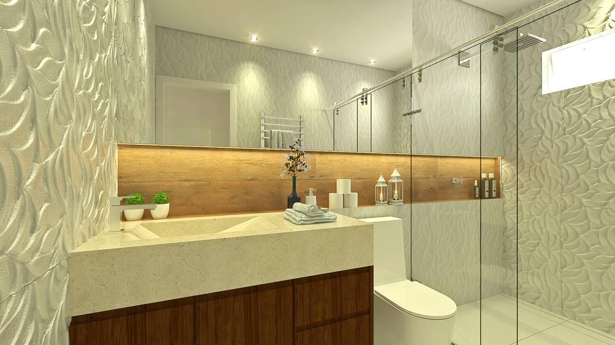 Baños de estilo  por Bruna Rodrigues Designer de Interiores,