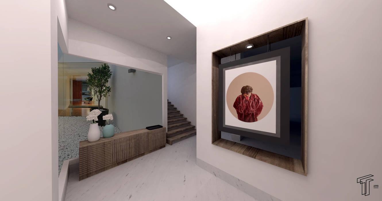 Projekty,  Korytarz, przedpokój zaprojektowane przez TAMEN arquitectura,
