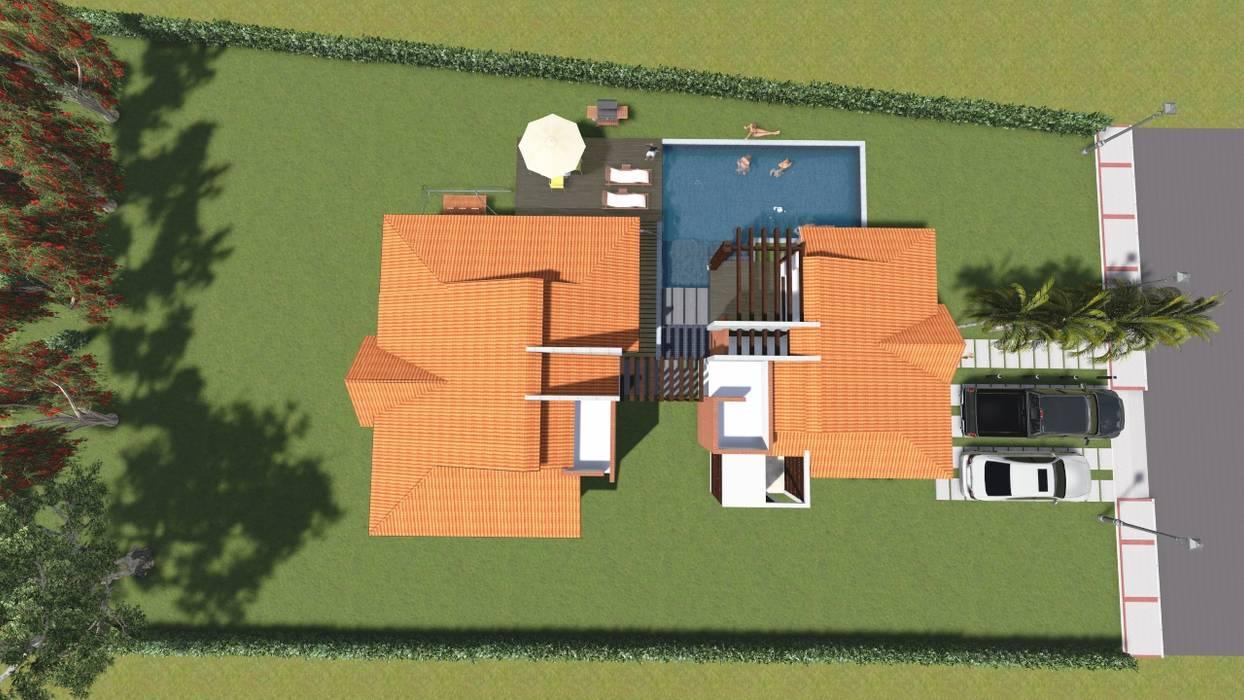 Vista Cubiertas Casas de estilo rural de ARQUITECTO JUAN ANDRES GUTIERREZ PEREZ Rural