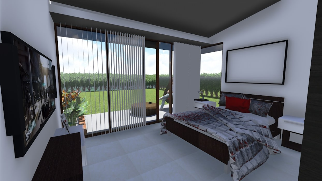 Country style bedroom by ARQUITECTO JUAN ANDRES GUTIERREZ PEREZ Country