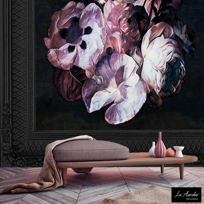Fleur -Variation Framed- Wallpaper Oleh La Aurelia Klasik