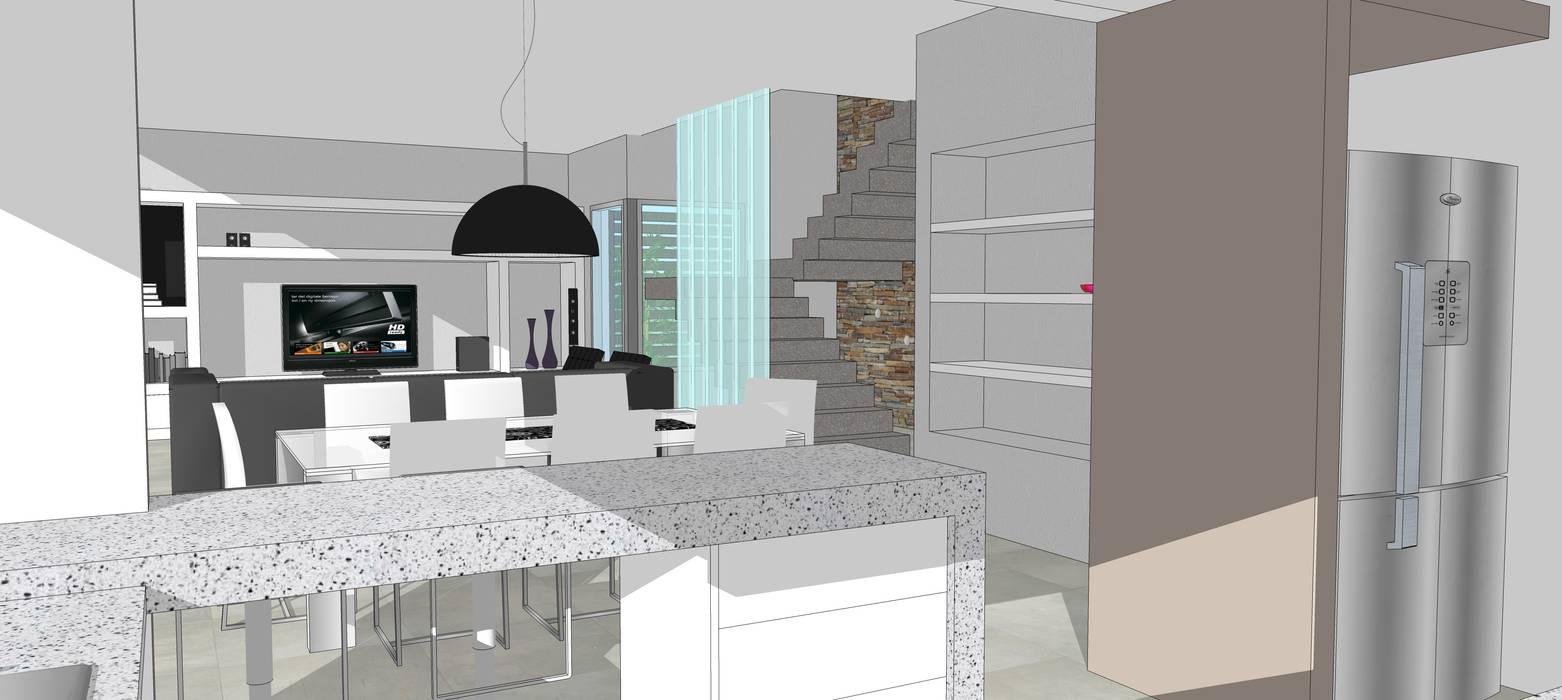 Perspectiva Interior: Comedores de estilo  por Raizar Arquitectura y Paisajismo