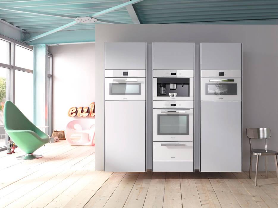 White Miele Appliances Hehku KitchenElectronics