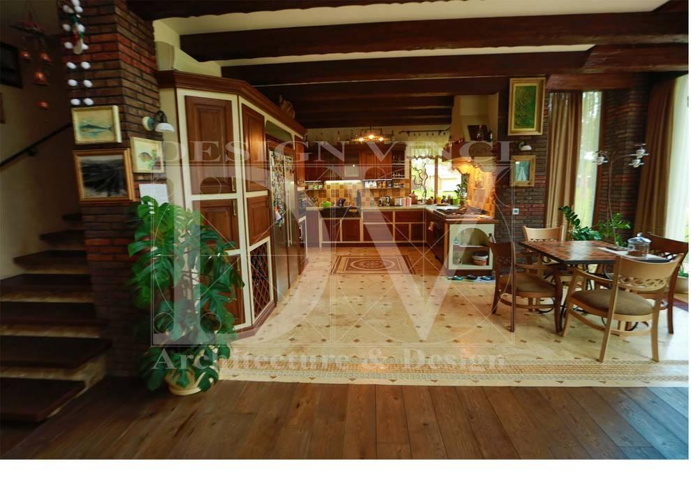 Cucina in stile rustico di design vinci rustico legno ...