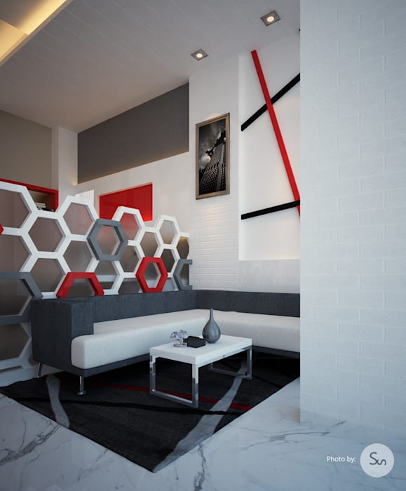 Office Interior:  Walls & flooring by spacefusion,