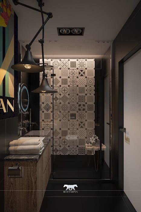 Bathroom Eclectic style bathroom by BLUETARPAN Eclectic Tiles