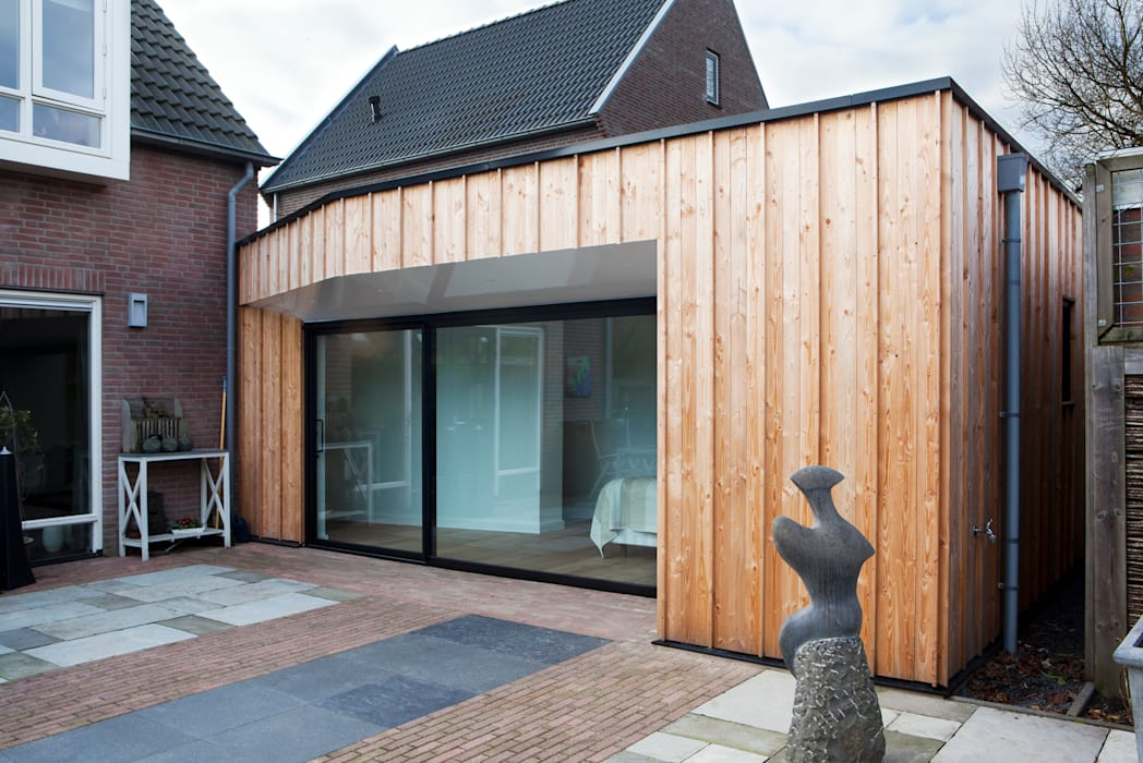 Home Extension Westervoort Moderne huizen van Kevin Veenhuizen Architects Modern Hout Hout