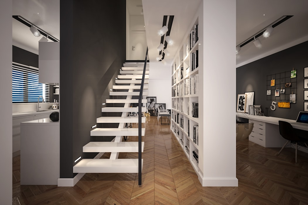 Couloir et hall d'entrée de style  par Tasarımca Desıgn Offıce, Moderne