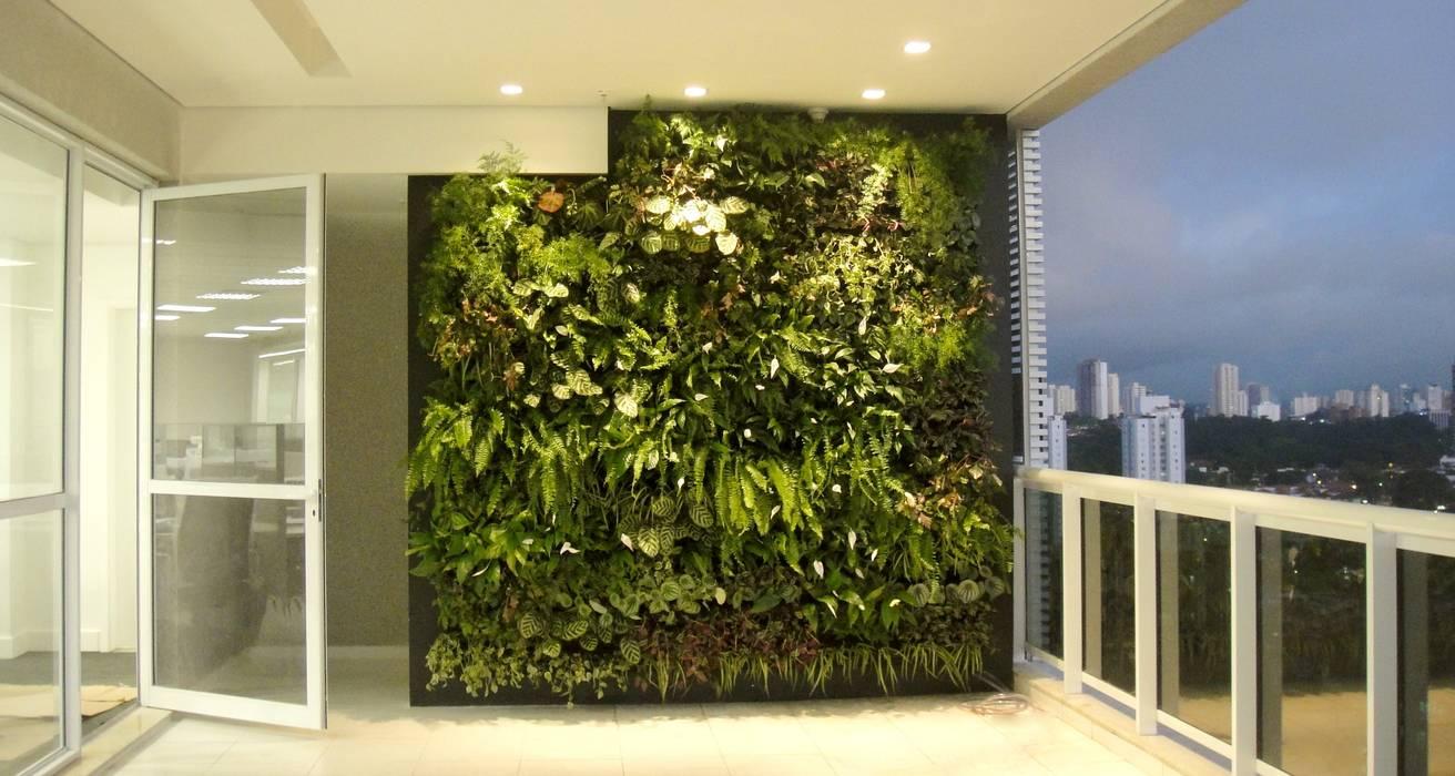 Espaço Empresarial Nações Unidas Edifícios comerciais tropicais por EKOA Paisagismo Tropical