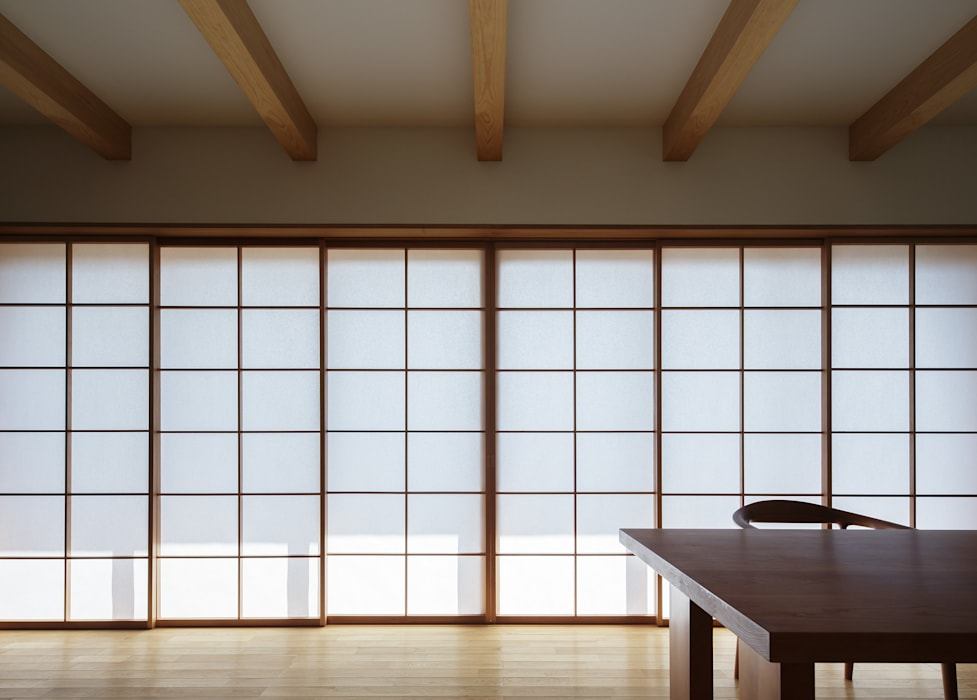 Modern Living Room by カトウアーキテクトオフィス Modern