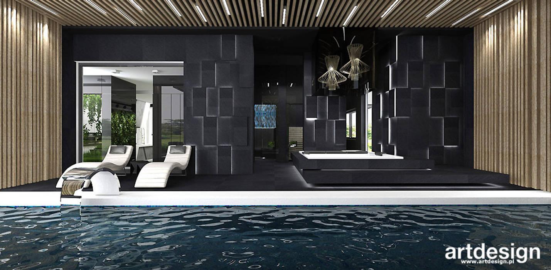 strefa przy basenie - domowe spa Nowoczesny basen od ARTDESIGN architektura wnętrz Nowoczesny