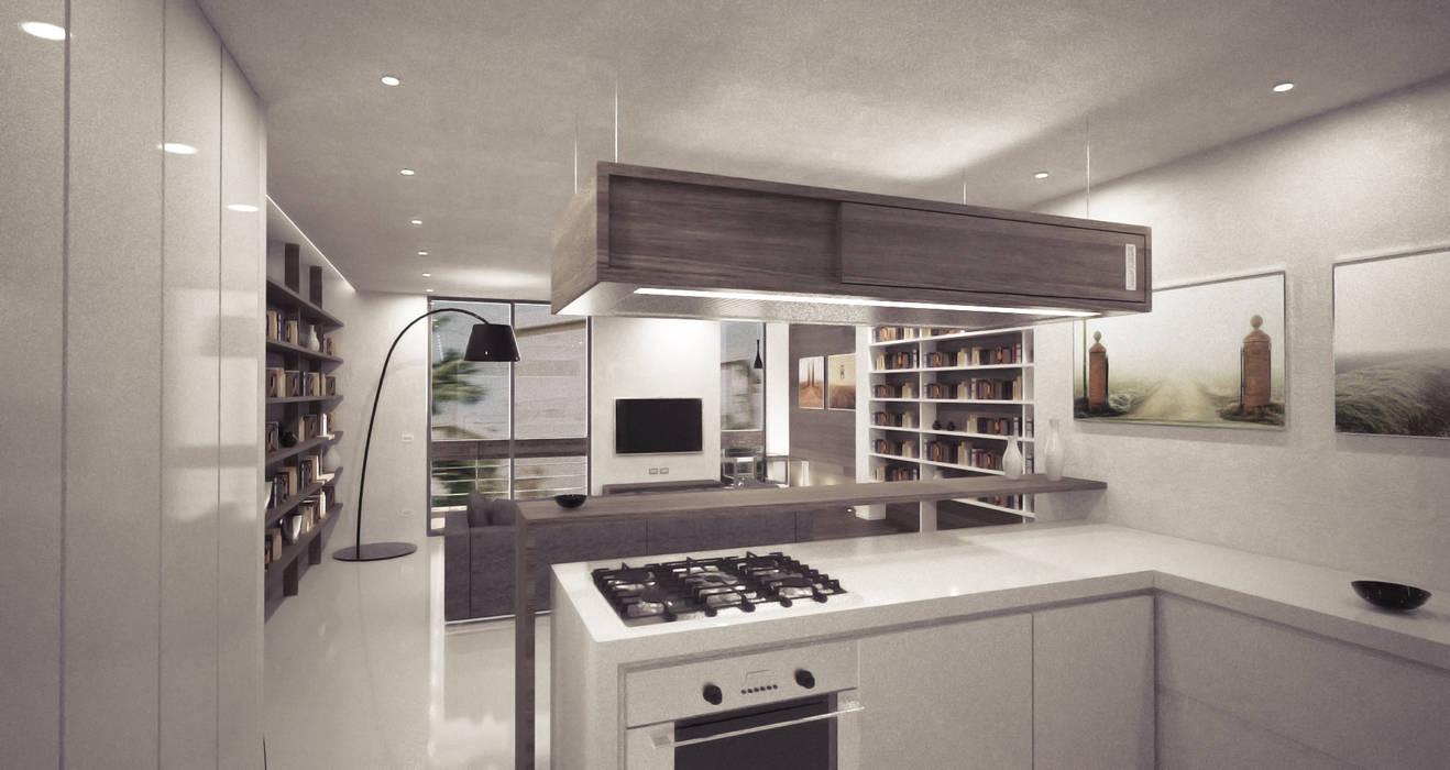 casa A: Cucina in stile in stile Moderno di degma studio