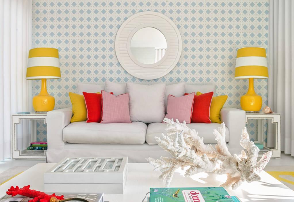 Beach House Salas de estar modernas por Prego Sem Estopa by Ana Cordeiro Moderno