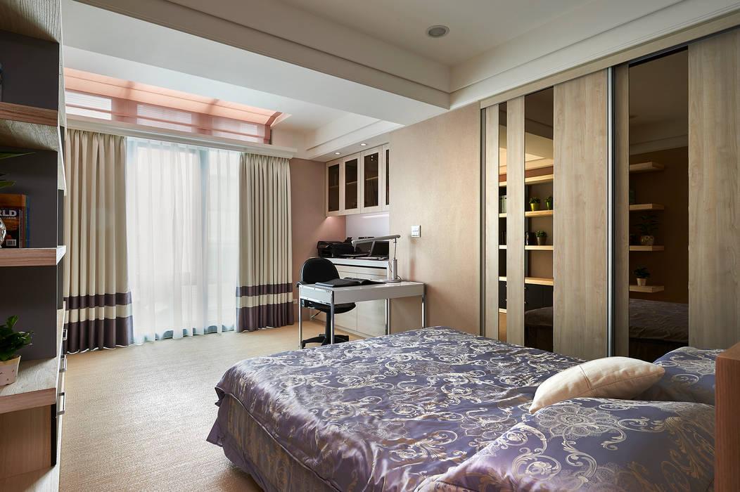 休憩、辦公兩相宜的恬靜秘書臥室 根據 青瓷設計工程有限公司 古典風