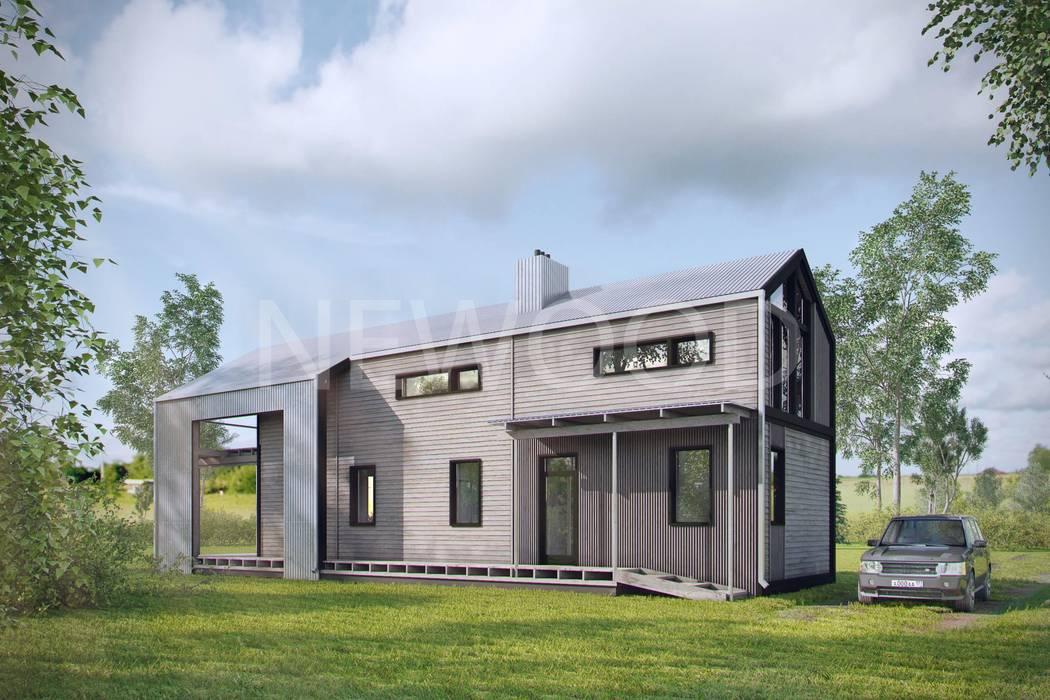 NEWOOD - Современные деревянные дома Eclectic style houses Wood Wood effect