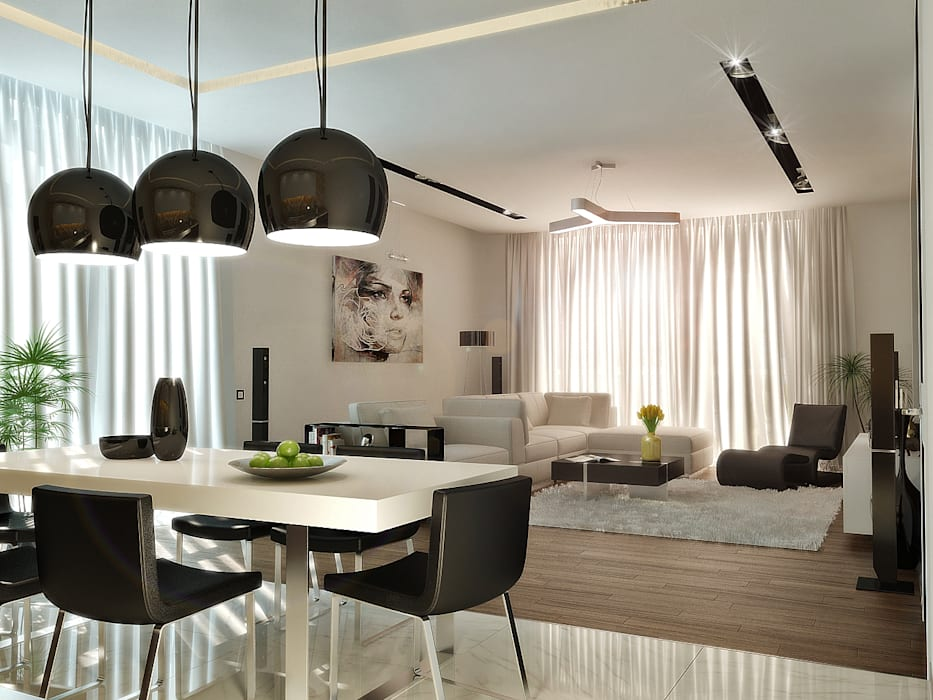 Квартира- студия 72 м/кв: Гостиная в . Автор – metrixdesign, Минимализм