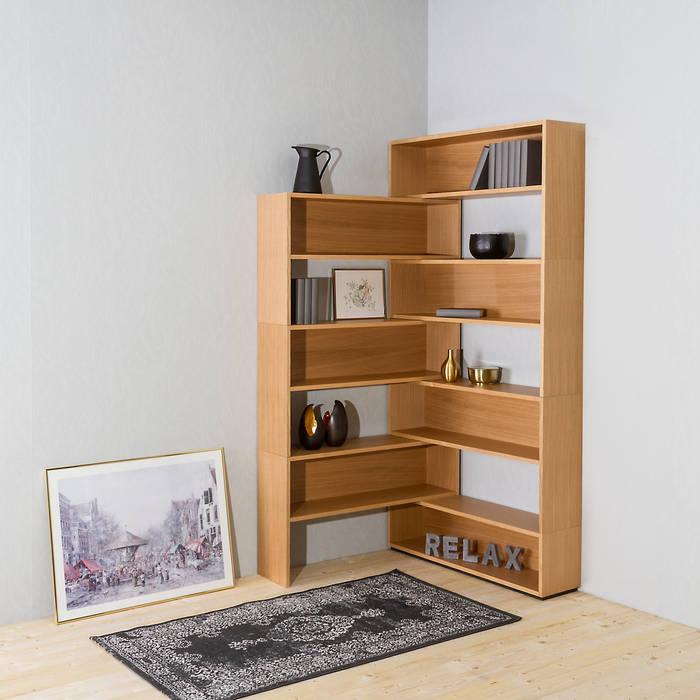 Eckhardt – das modulare eckregal: wohnzimmer von noook | homify