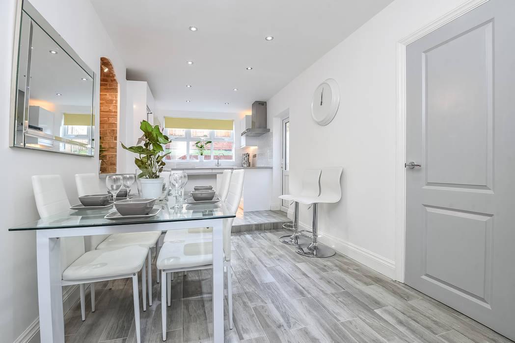 Kitchen Millennium Interior Designers Modern kitchen Ceramic White