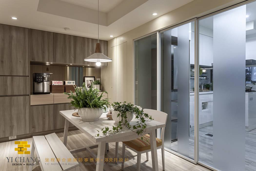 餐廚區:  餐廳 by 垼程建築師事務所/浮見月設計工程有限公司