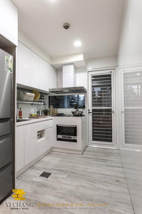 廚房 根據 垼程建築師事務所/浮見月設計工程有限公司 田園風