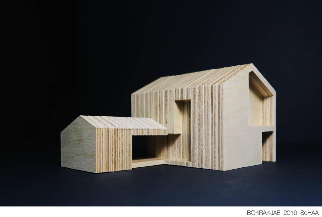 Case moderne di 소하 건축사사무소 SoHAA Moderno
