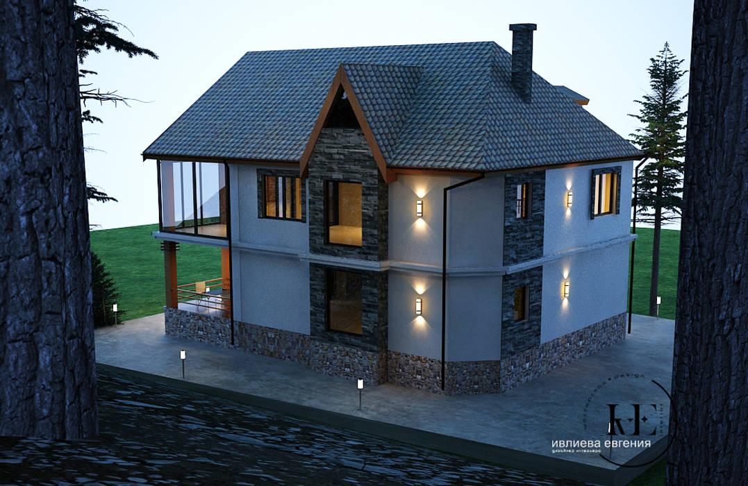 IvE-Interior Casas de estilo escandinavo