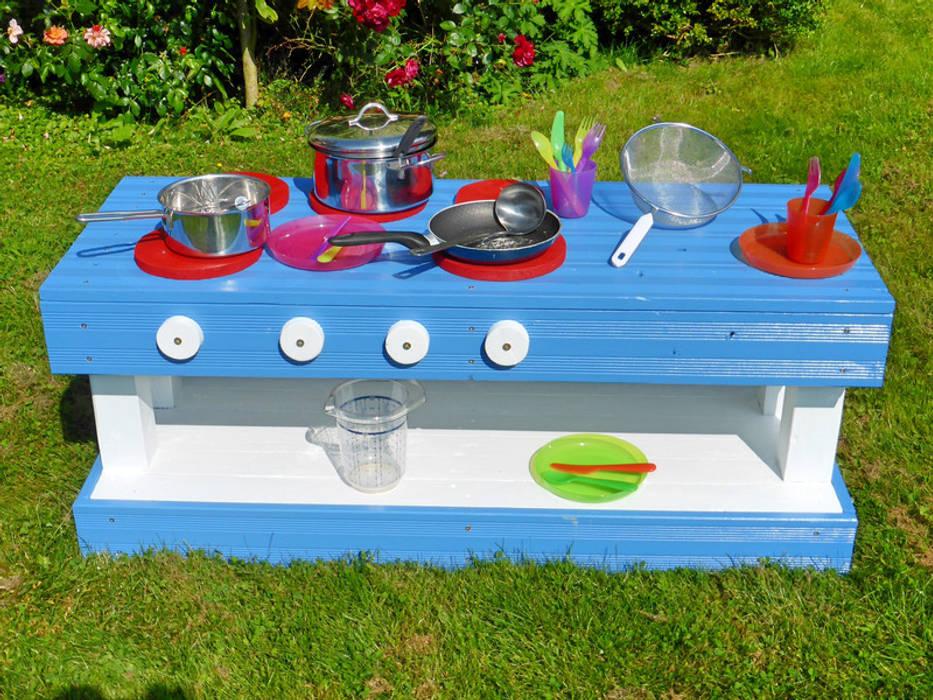 Kinderkuche Matschkuche M Aus Holz Bunt Palettenmobel Garten Von