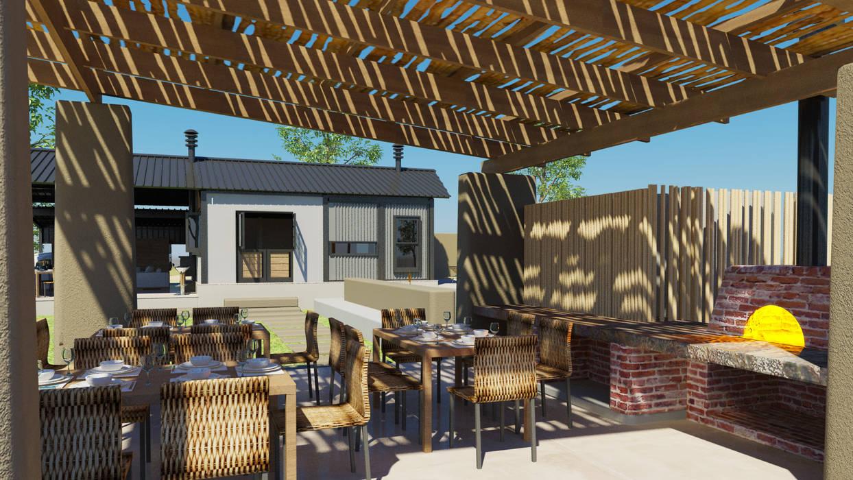 Pizza Pavillion:  Patios by Edge Design Studio Architects
