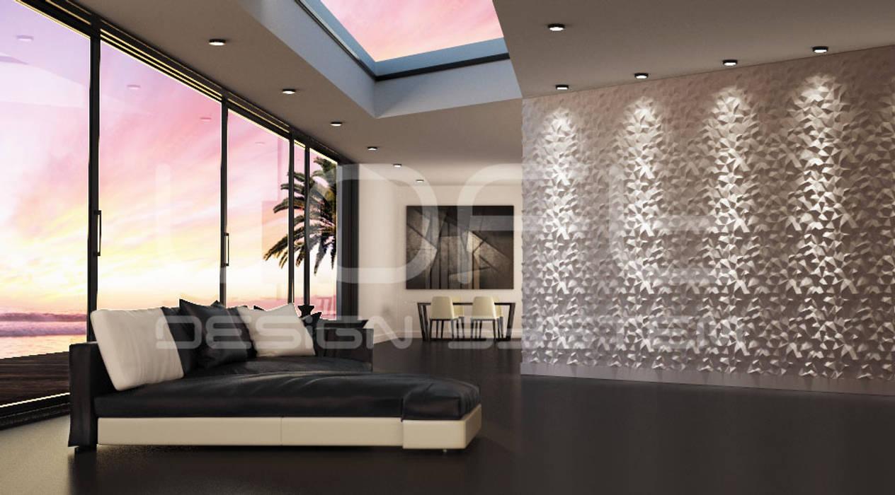 Wohnzimmer Paneele, 3d paneele aus gips modell nr. 31 peaks: moderne wohnzimmer von loft, Design ideen