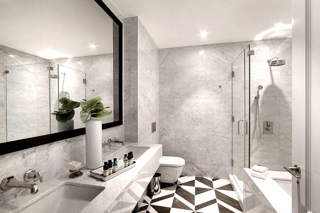 Banheiros modernos por Joe Ginsberg Design Moderno