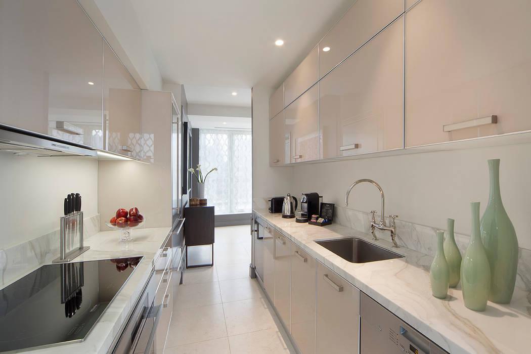 Kitchen Penthouse 現代廚房設計點子、靈感&圖片 根據 Joe Ginsberg Design 現代風