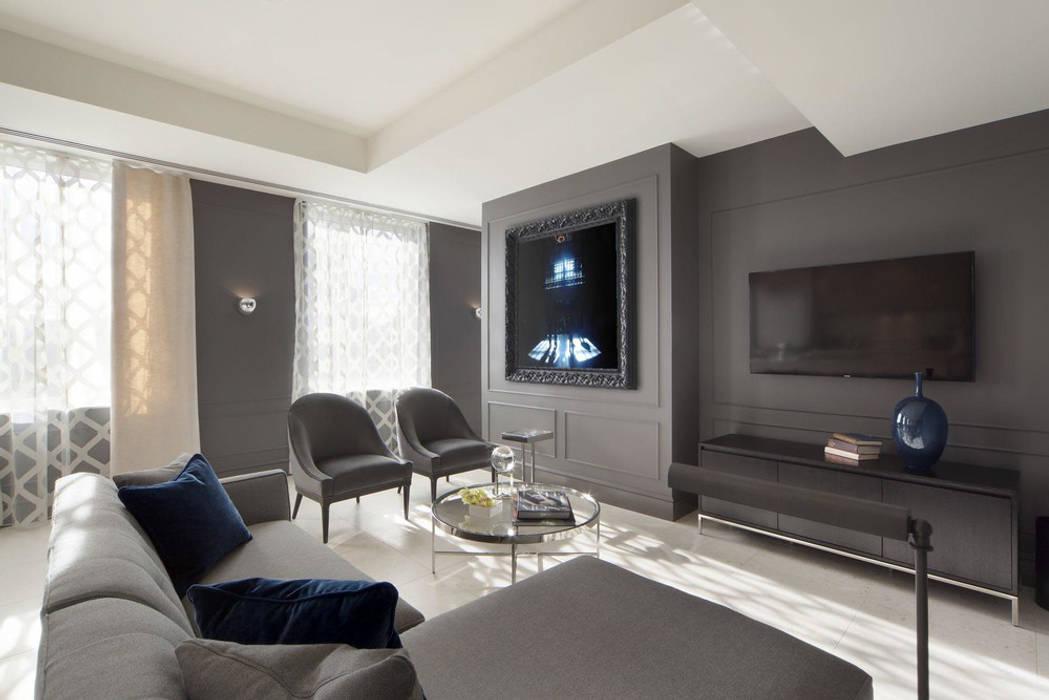 Living Room 现代客厅設計點子、靈感 & 圖片 根據 Joe Ginsberg Design 現代風